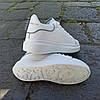 Кросівки ALEXANDER MCQUEEN з рефлективом |копія| білі на товстій підошві високі еко шкіряні перфорація, фото 5