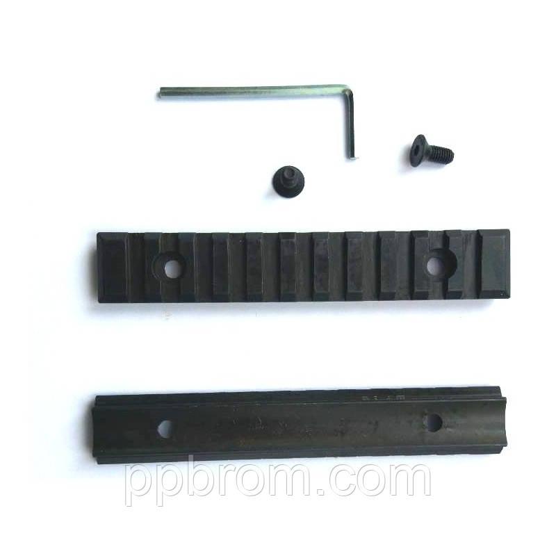 Планка стальная Weaver закругленная 105мм, h = 7мм, 60 мм между отверстиями
