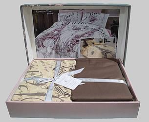 Комплект постельного белья First Choice Ранфорс 200x220 Romantica, фото 2