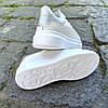 Кросівки ALEXANDER MCQUEEN |копія| білі розміри 36-41 на товстій підошві високі еко шкіряні перфорація, фото 3