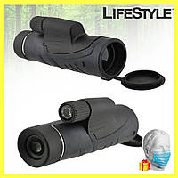 Монокуляр Binoculars 40x60 TJ с двойной фокусировкой с чехлом + одноразовые маски 10шт в Подарок!