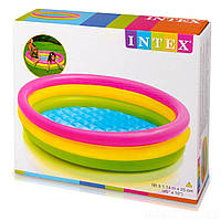 Детский надувной бассейн   с надувным дном  INTEX 57412