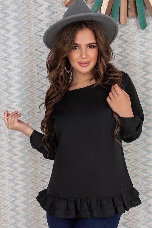 Черная блузка для офиса Валерия