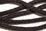 Шнур круглый 8мм акрил 100м темно коричневый, фото 2