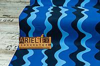 Плащевка Добби Принт Stripe (dark blue) №288 на мембране