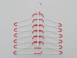 Многоярусная металлическая вешалка-лестница, длина 41,5  см