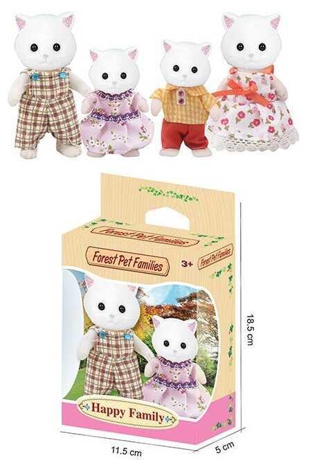 Набор флоксовых животных 20045 (192/2) 2 вида по 2 персонажа, в коробке