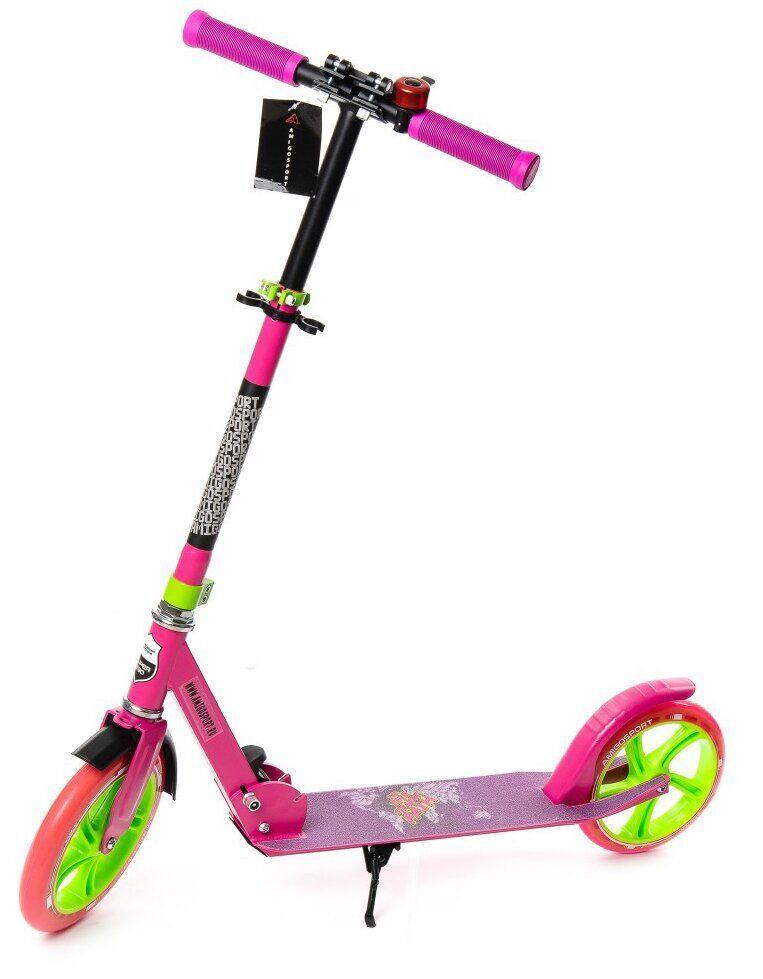 Самокат двухколесный для детей Amigo Sport - Prime  - Розовый