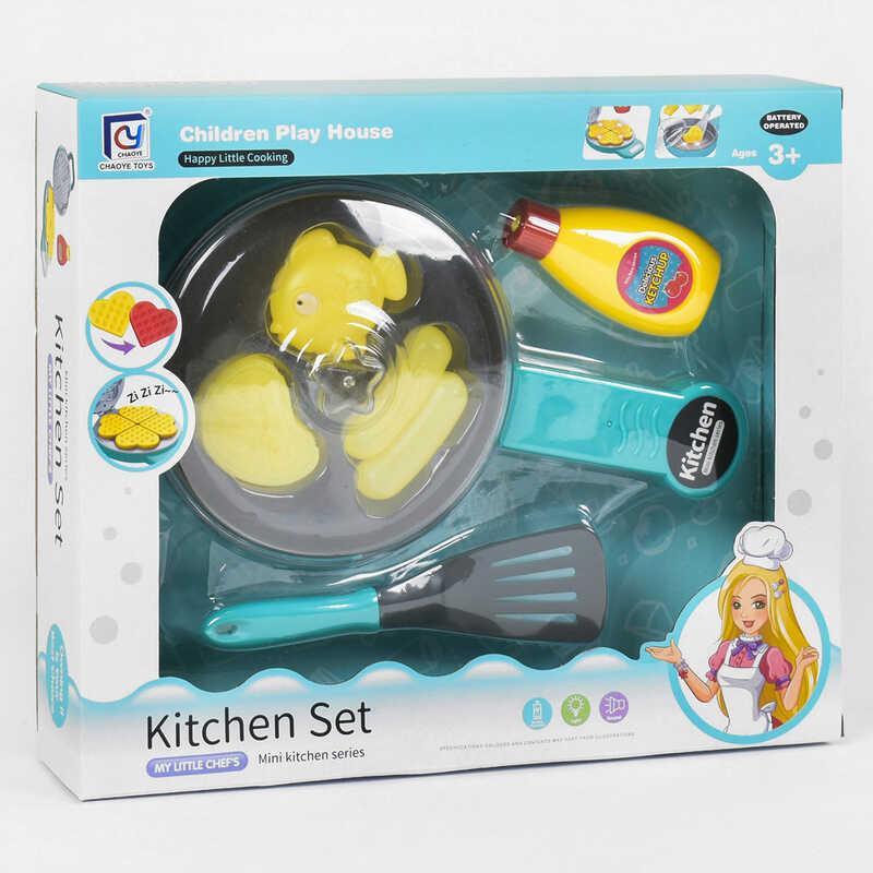 Набор кухни 818-260 (60) продукты меняют цвет, свет, звук, на батарейке, в коробке