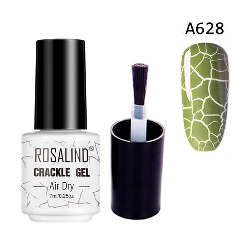 Гель-лак для ногтей маникюра 7мл Rosalind, кракелюр, А628 хаки