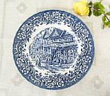 Колекційна синьо-біла тарілка, Англія, Royal Tudor Ware, 17th Century England, фото 2