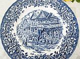 Колекційна синьо-біла тарілка, Англія, Royal Tudor Ware, 17th Century England, фото 3