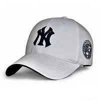 Бейсболка NY белая, кепка New York/синяя