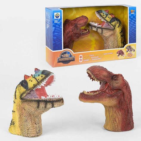 Голова Динозавра X 303 A (12) 2 штуки, звук, в коробці, фото 2