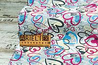 Плащевка Добби Принт Grey R#03175 на мембране