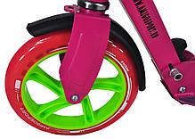 Самокат двухколесный для детей Amigo Sport - Prime  - Розовый, фото 3