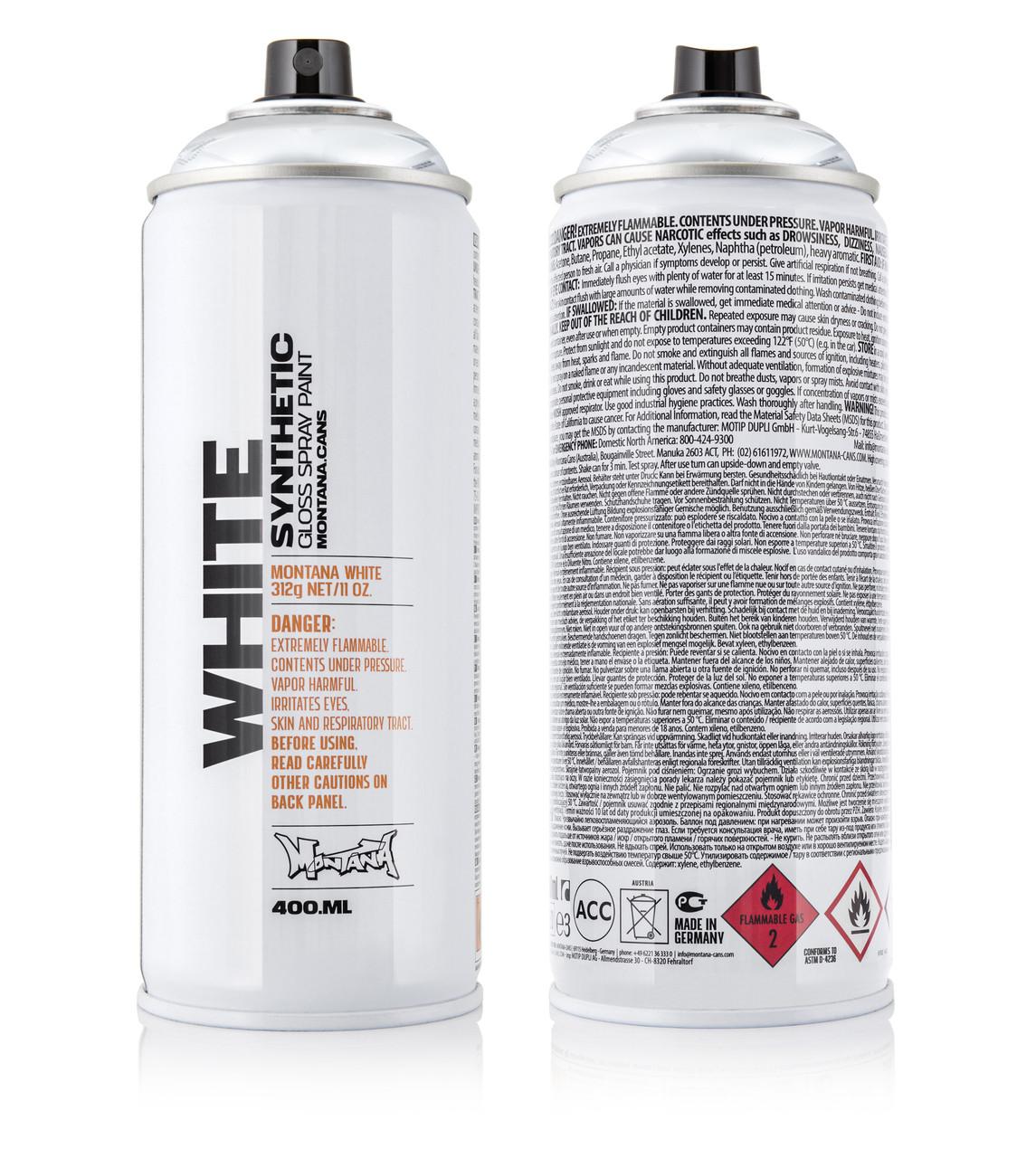Краска Montana WHT Серебряный 400 мл (Silver) (280412)