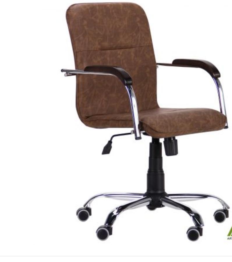 Кресло компьютерное Самба-RC Хром орех Неаполь N-50 без канта