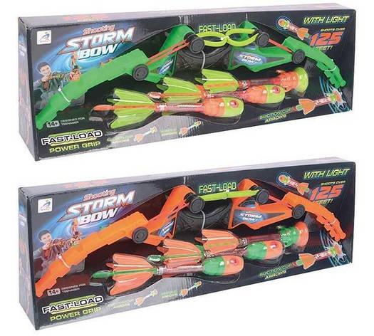 Лук АХ 1020 A (24) 2 вида, 3 стрелы светятся, в коробке, фото 2