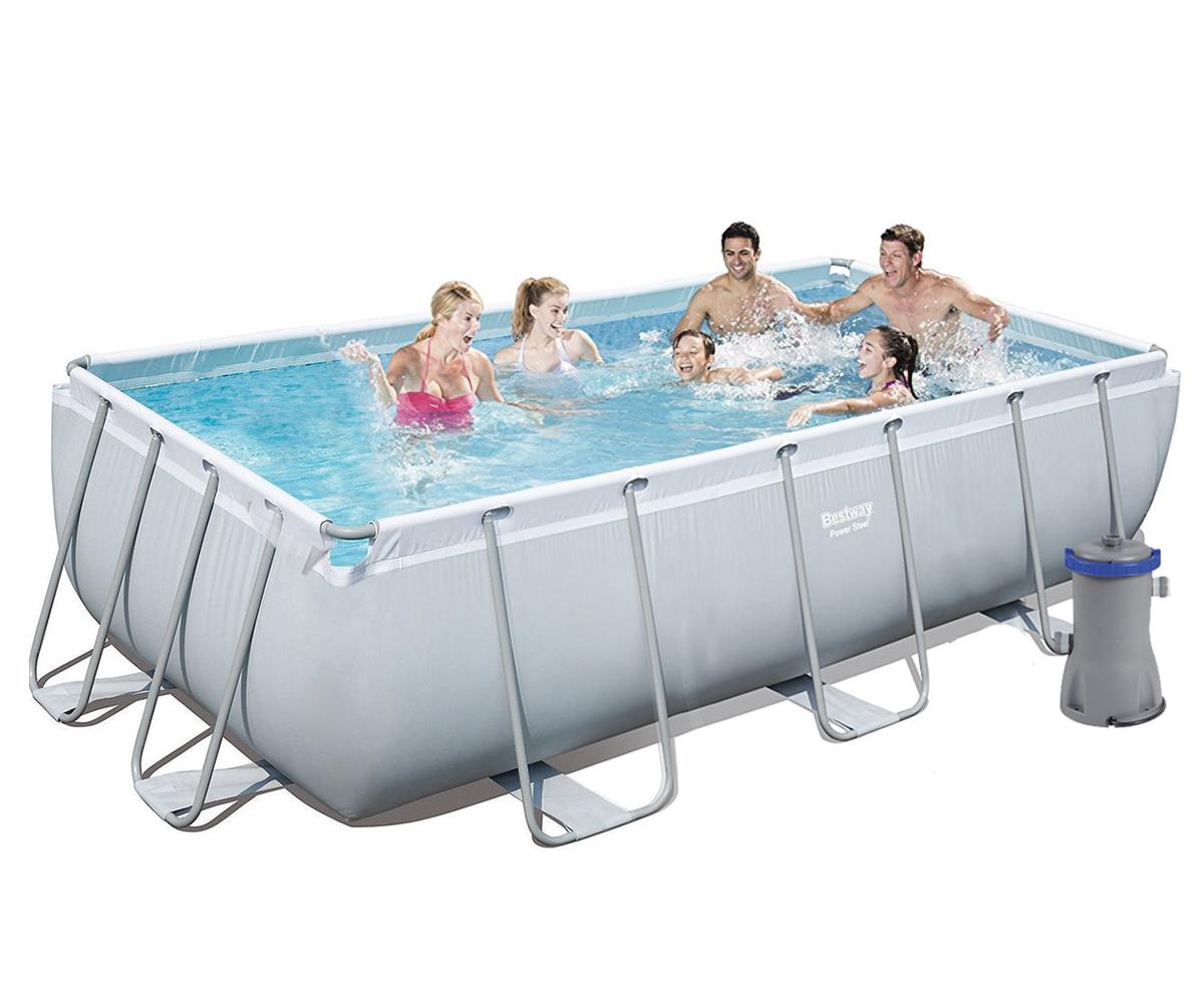 Каркасный бассейн Bestway + фильтр-насос (2 006 л/ч)  404х201х100 см  ( 56251)