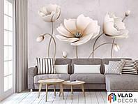 Фотообои 3D цветы по Вашим размерам