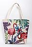 Летняя пляжная сумка Фламинго, фиолетовый