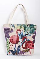 Летняя пляжная сумка Фламинго, фиолетовый, фото 1