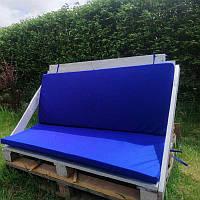 Подушка для дивана из поддонов синяя