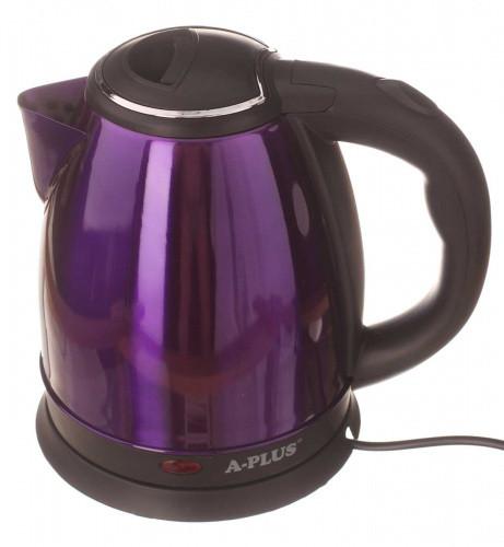 Электрочайник A-PLUS 2.0 л Нержавейка (2134) Фиолетовый