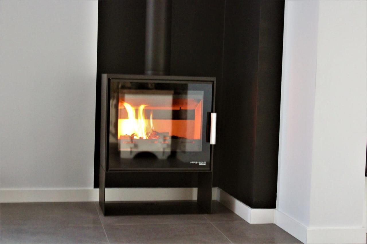 современная печь для отопления частного дома Haas+Sohn Skive