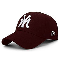 Бейсболка NY коричневая, кепка New York/синяя