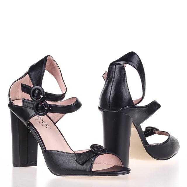 Модные удобные  женские Босоножки  Summergirl D322A BLACK KOGA ЛЕТО 2020 /// 95615-1 black л