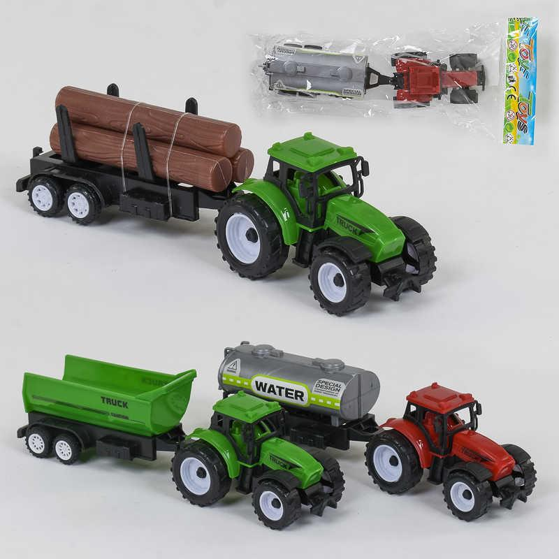 Трактор 669-13/669-14/669-15 (432/2) 3 вида, инерция, 1шт в кульке