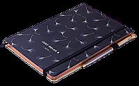 Блокнот деловой RELAX А5, 96л., клетка, обложка искусственная кожа, черный