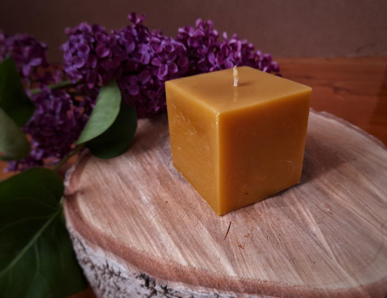 Свічка воскова з натурального бджолиниго воску квадрат