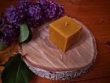 Свічка воскова з натурального бджолиниго воску квадрат, фото 2