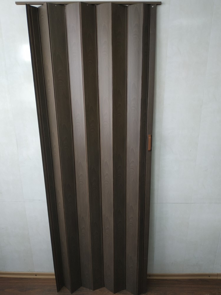 Дверь-ширма гармошка межкомнатная глухая, Орех 7103, 820х2030х0,6мм