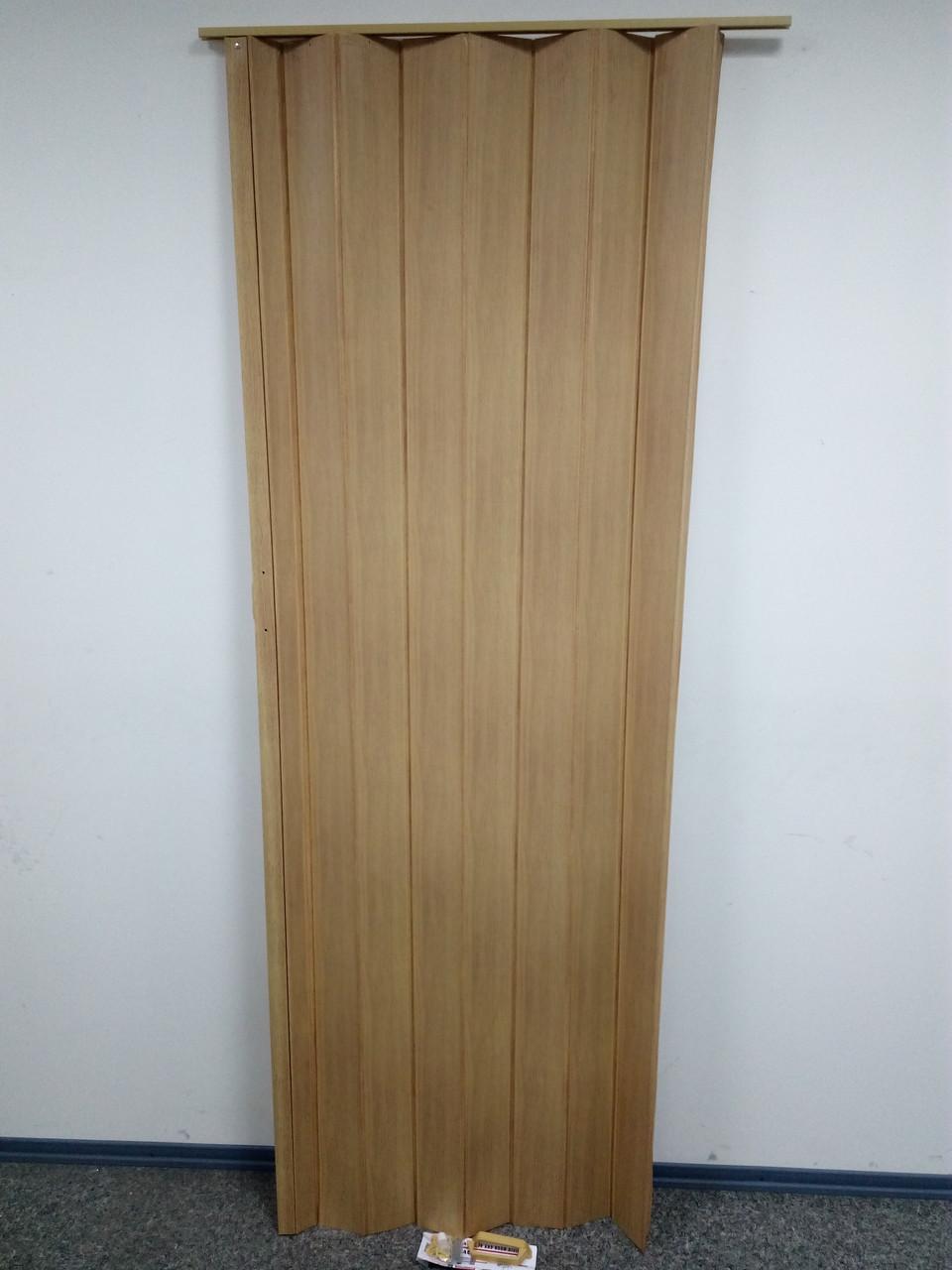Дверь-ширма гармошка межкомнатная глухая, бук 503, 820х2030х0,6мм