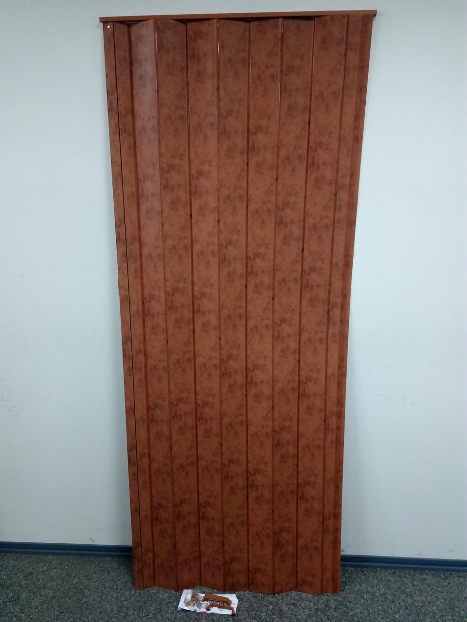 Дверь-ширма гармошка межкомнатная глухая, мрамор темный 4785, 820х2030х0,6мм
