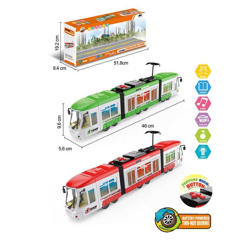 Трамвай 1598 (24) 2 цвета, свет, звук, в коробке