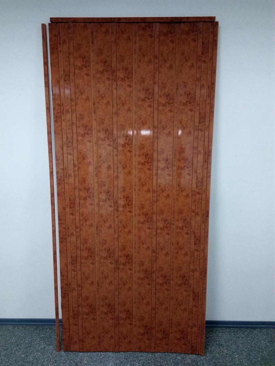 Дверь гармошка межкомнатная ЭЛИТ, 4785 мрамор темный, 880*2030*10 мм