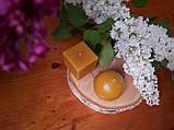 Свічка воскова з натурального бджолиниго воску квадрат, фото 4
