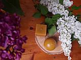 Свічка воскова з натурального бджолиниго воску квадрат, фото 5