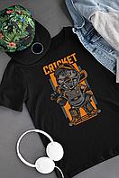 """"""" Гравець в крикет """" футболка з оригінальним принтом """" Player cricket T-shirt """""""