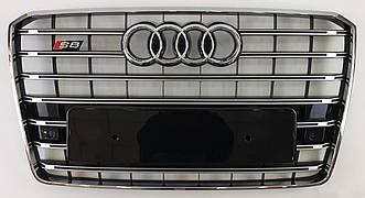 Решетка радиатора Audi A8 D4 (14-17) рестайлинг стиль S8