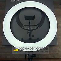 Селфи кольцо лампа 45 см с держателем для телефона от сети Soft Ring Light LED подсветкой профессиональная