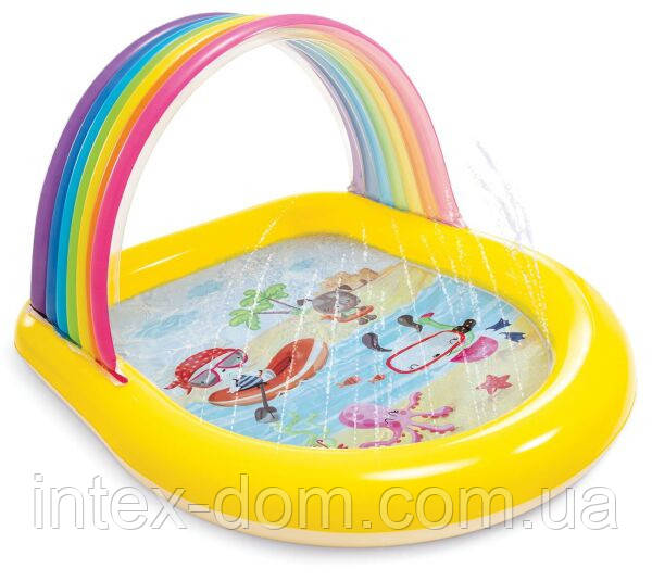 Детский надувной бассейн Intex 57156 «Радуга», (147 х 130 х 86 см)