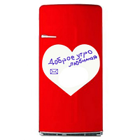 Маркерная магнитная доска на холодильник сердце 31х40 см, фото 1