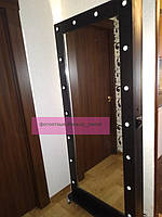 Высокое гримерное зеркало с тумбой на колесиках 1