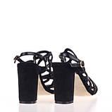 Модные удобные  женские Босоножки  Summergirl D328Y BLACK ZAMSHA ЛЕТО 2020  /// 3308-5 black, фото 2